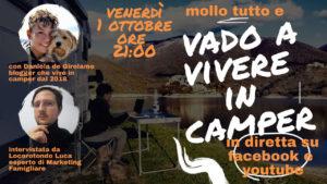 Mollo tutto e vado a vivere in camper: diretta live con Daniela de Girolamo